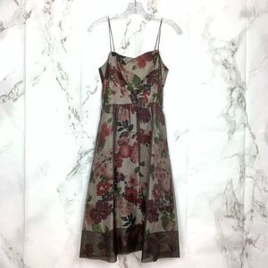 Laundry by Shelli Segal Sheer Overlay Floral Dress